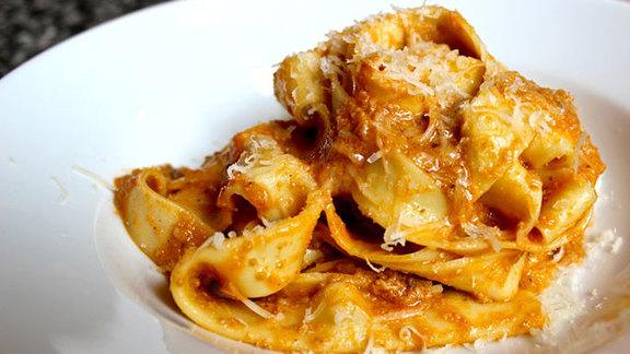 Pasta at Il Corvo