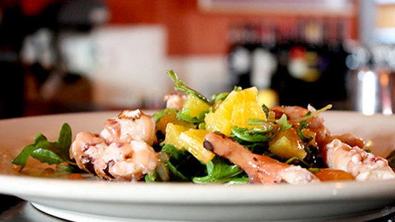 Chef Mark Cox reviews Octopus w/ rapini at