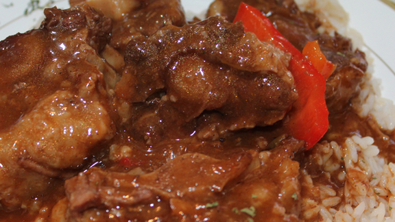 Seasoned oxtails at Esther's Cafe