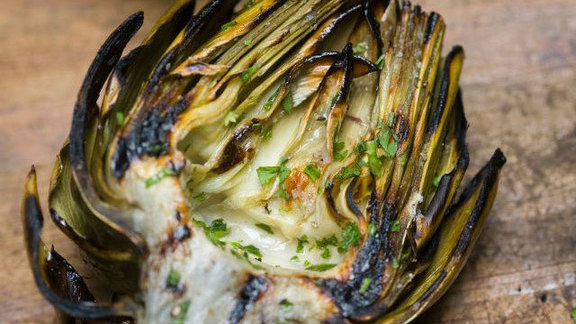 Grilled artichokes at Houston's