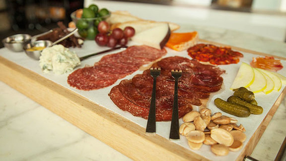 Chef Phillippe Schmit reviews Cheese platter at