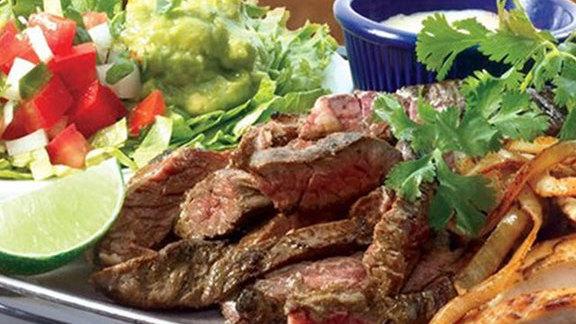 Beef fajitas famosas at Pappasito's Cantina