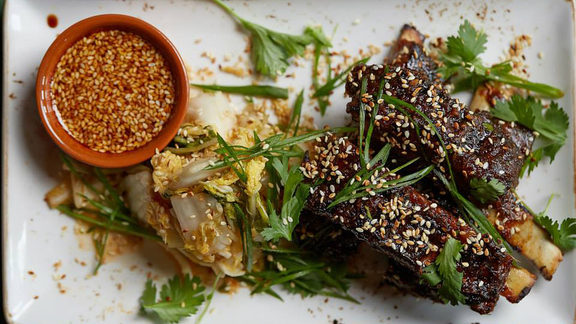 Chef Cory Willard reviews Korean lamb ribs at
