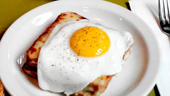 Croque-madame at Café Presse
