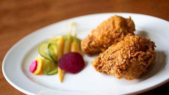 Lard fried buttermilk chicken w/ pickles at Bar Millar