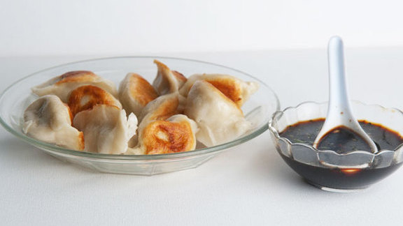 Pork dumplings at Chinatown Express