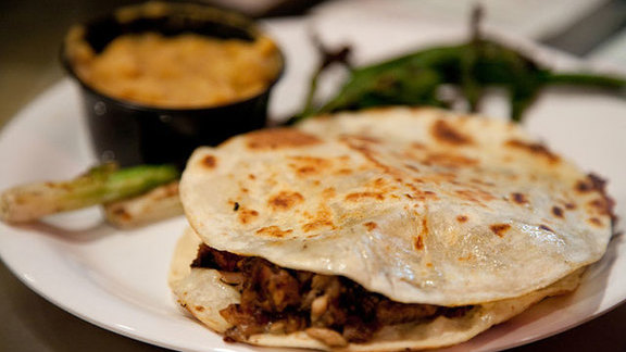 Carne asada vampiro & chorizo cachetada at Mexicali Taco & Co.