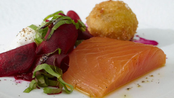 Bentley's smoked salmon at Bentley's Oyster Bar & Grill
