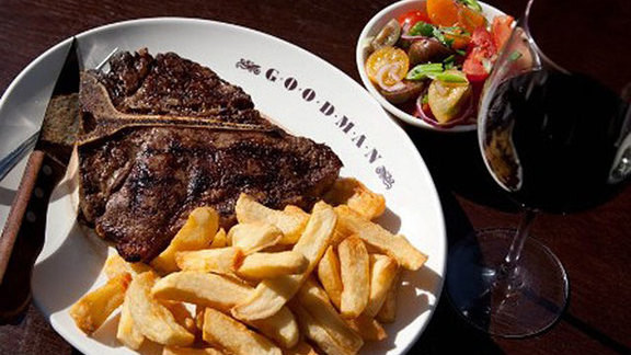 Goodman rib-eye at Goodman Steak House Restaurant