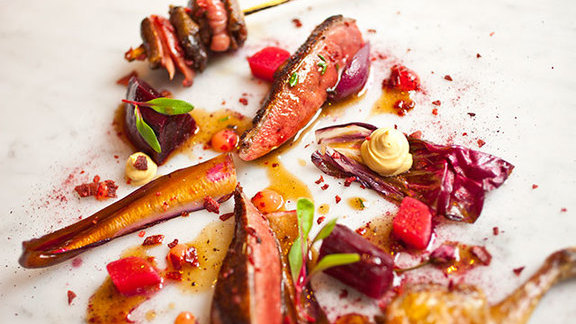 Chef Jeff Galvin reviews Roasted breast & confit leg of pigeon at