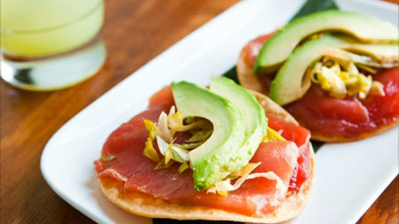 """Chef Jessica Boncutter reviews Albacore tuna tostadas """"Contramar-style"""" at Tacolicious"""