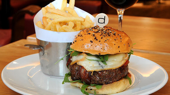 Yankee burger at Bar Boulud