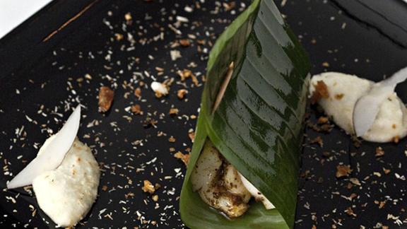 Chef Richard Corrigan reviews Konju moilee at Benares