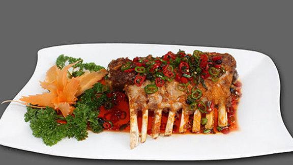 Irresistible lamb ribs w/ lashings of chilli at Barshu