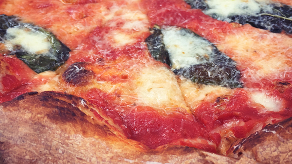 Margherita pizza at Tribute Pizza
