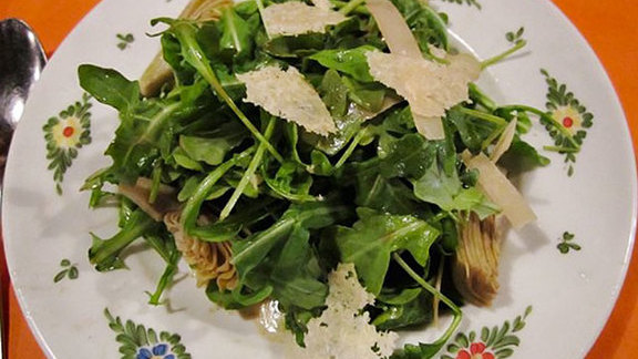 Chef Matt Baker reviews Rucola salad at Osteria Morini
