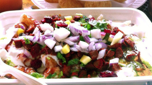 Lamb chaat at Desi Chaat House