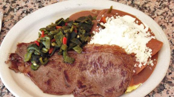 Chef Scott Schroeder reviews Enfrijoladas at