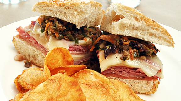 Chef André Natera reviews New Orleans Muffaletta at