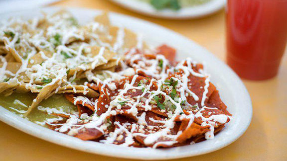 Chilaquiles at Lotería Grill
