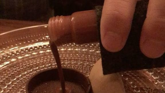 Liquid chocolate at McCrady's