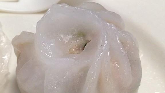 Shrimp and chive dumplings at Good Luck Dim Sum 好運點心