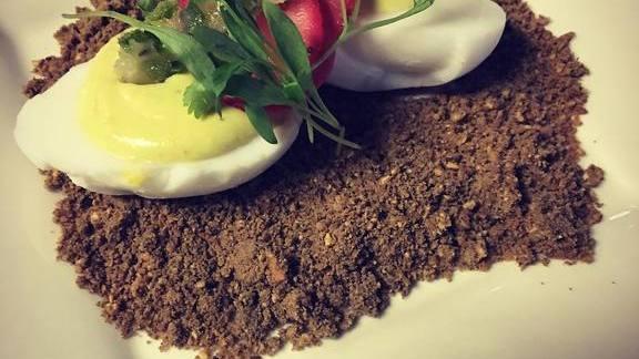 Chef Maria Mazon reviews Duck devil Eggs at BOCA Tacos