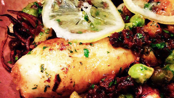 Chef Andrew Wilson reviews Stuffed Squid at
