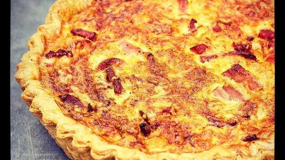 Quiche Loraine, custard, ham, onion, gruyere at Manresa Bread