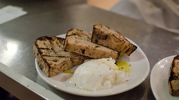 Housemade bread w/ lardo pestato  at Sotto