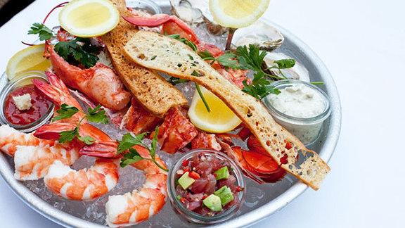 Seafood platter at Mon Ami Gabi