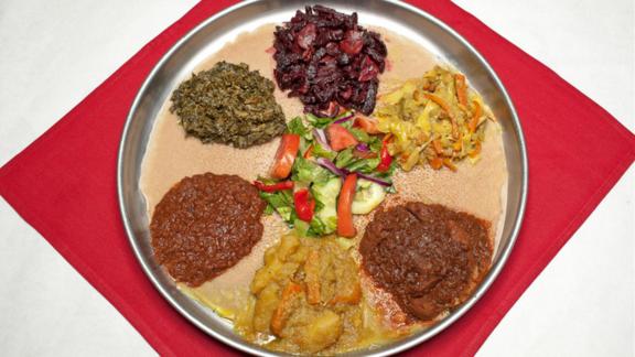 Any dish at Demera Ethiopian Restaurant
