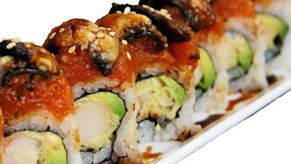 Tiger & Dragon Roll at Naked-Fish's Sushi & Grill
