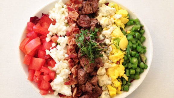 Chef Stephane Chevet reviews Classic Cobb salad w/ grilled beef tenderloin at Vintner Grill