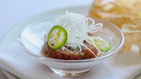 Tuna tartare at Hawksworth Restaurant
