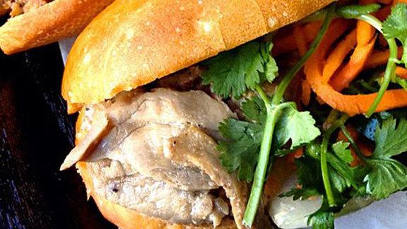Vietnamese BBQ pork bánh mì at Ba Le Sandwiches