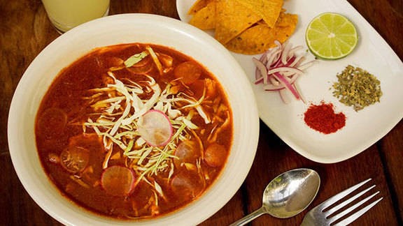 Chef Ethan Speizer reviews Pozole rojo at Nopalito
