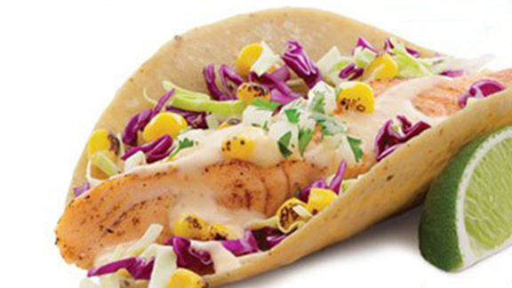 Atlantic salmon taco at Rubio's