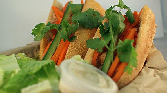 Meatball bánh mì at La Tour Cafe