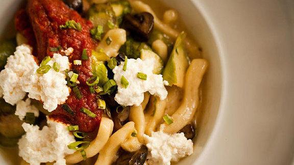 Chef Nick Mastrascusa reviews Housemade cavatelli pasta at Merrimans Restaurant Waimea Big Island