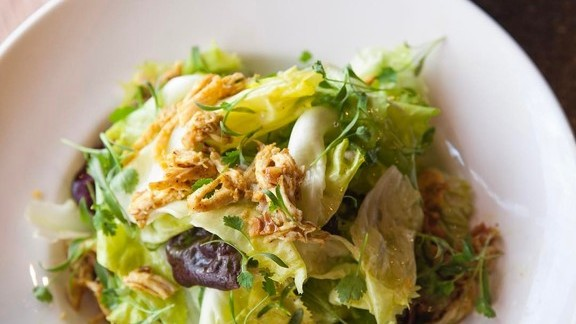 Chicken salad with chunks of lettuce at Osteria Mozza