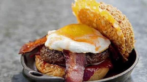 Chef's Favorite burger at Plan Check Kitchen + Bar