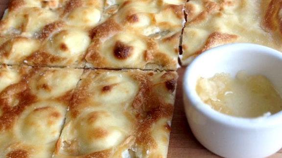 Chef Karen Krasne reviews Focaccia di recco at