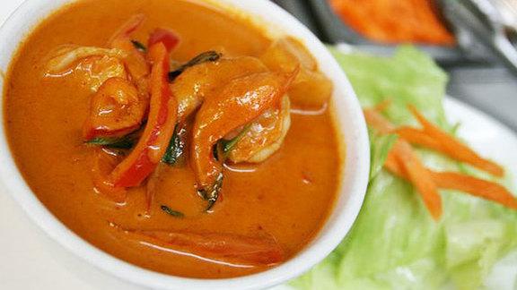 Pumpkin curry w/ chicken at House of Thai