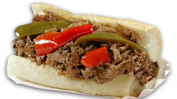 Italian beef w/ sweet & hot peppers at Al's Beef