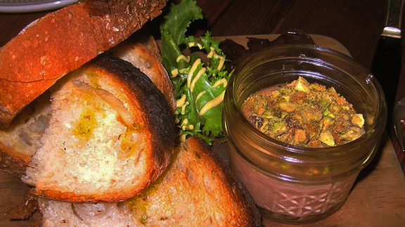 Chicken liver mousse at Vinegar Hill House