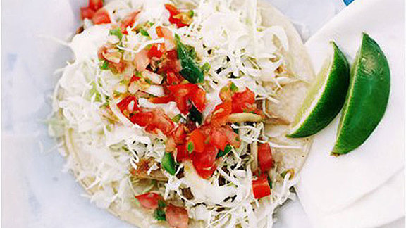 Fresh fish tacos at Camille's On Wheels Kailua