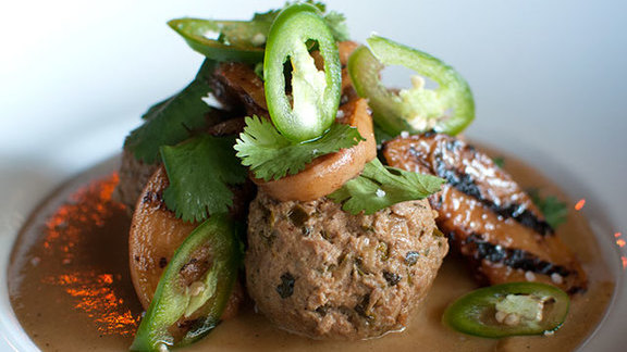 Chef Jason McLeod reviews Braised duck meatballs at