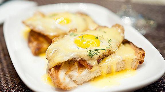 Quail egg toast at Ardesia