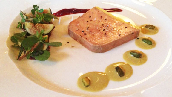 Foie gras terrine at Lafayette